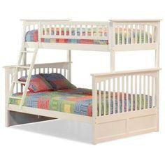 Atlantic Furniture Columbia Twin over Full Bunk Bed - AB55202, Durable
