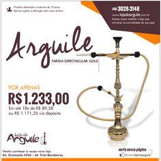 ARGUILE FARIDA ESPECTACULAR GOLD POR APENAS R$ 1.233,00 Em até 18x de R$ 89,58 ou R$ 1.171,35 via depósito  Compre Online: http://www.lojadoarguile.com.br/arguile-farida-espectacular-gold