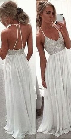 2016 Simple Lace Beaded Long Chiffon Halter Prom Dresses http://www.luulla.com/product/547136/2016-simple-lace-beading-long-prom-dresses-cheap-halter-prom-dress-spagehetti-straps-party-dresses-white-prom-gowns #halterpromdresses #simplepromdresses #cheappromdresses #whitepromdresses