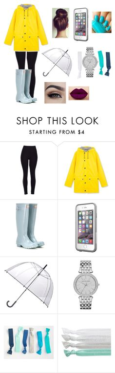 """""""Rainy☔️"""" by amarianamichelle ❤ liked on Polyvore featuring Hunter, LifeProof, Essie, Totes, Disney, Michael Kors, Ribband and rainyday"""