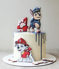 inspiration photo of paw patrol birthday cake ideas paw patrol birt Toddler Birthday Cakes, Baby Boy Birthday, 2nd Birthday, Birthday Ideas, Torta Paw Patrol, Paw Patrol Cake Toppers, Paw Patrol Birthday Theme, Paw Patrol Party, Happy Birthday Celebration