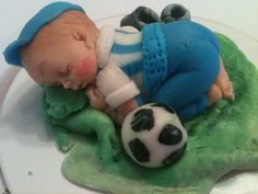 Soccer Player Baby by anafeke on Etsy, $15.00 CAKE TOPPER
