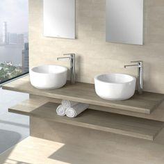 Villeroy & Boch Architectura Aufsatzwaschtisch weiß mit CeramicPlus mit Überlauf - 412540R1 | Reuter Onlineshop