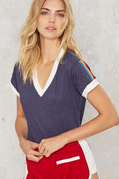 efab3d2c6714 CAMP Collection Stripe Ringer Tee  campcollection for  nastygal Cool Tees