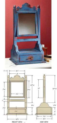 Mirror Stand Plans - Woodworking Plans and Projects | WoodArchivist.com
