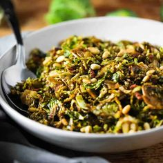 Shaved Brussels Sprouts with Pancetta and Balsamic Holiday Side Dishes, Best Side Dishes, Side Dish Recipes, Pasta Recipes, Yummy Recipes, Soup Recipes, Salad Recipes, Cooking Recipes, Healthy Recipes