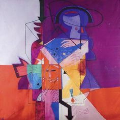Annada Silk Art Scarf 'The Point's End' – Saudi Gifts