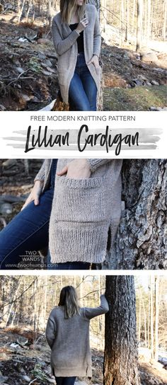 Lillian Cardigan I've been on a garment-making streak lately and my most recent design is no exception. In search of the perfect long and lean silhouette, I created the Lillian Cardigan - a cozy, slim fitted number with a thin ribbed collar and . Ladies Cardigan Knitting Patterns, Free Knitting Patterns For Women, Knit Cardigan Pattern, Shawl Patterns, Stitch Patterns, Crochet Patterns, Sweater Patterns, Serpentina, How To Purl Knit