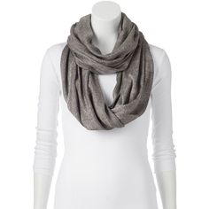 Mudd Acid Wash Infinity Scarf, Size: One Size (Grey) ($13) ❤ liked on Polyvore featuring accessories, scarves, grey, infinity scarf shawl, loop scarf, print infinity scarf, tube scarf and infinity scarves