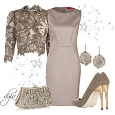 A fashion look from December 2013 featuring HUGO dresses, BCBGMAXAZRIA pumps and Judith Leiber clutches. Browse and shop related looks.