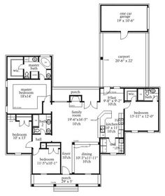 First Floor Plan of Cape Cod   House Plan 71431