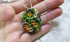 Flower Pendant  by Lena Handmade Jewelry by StoriesMadeByHands on Etsy https://www.etsy.com/listing/215259521/flower-pendant-by-lena-handmade-jewelry