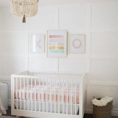 Clean whites baby girl nursery