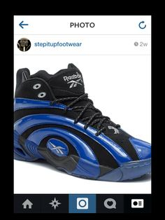 271f98ab226 Reebok Classic Shaqnosis In Black Blue. Stepitup Footwear