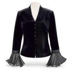 Victoria Velvet & Georgette Jacket