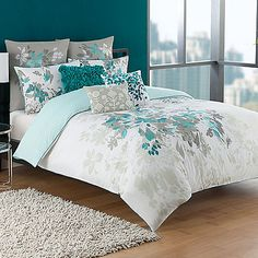 Bring a piece of paradise to your bed with the KAS® Luella Duvet Cover. The pristine white bedding transforms your bedroom into a soothing sanctuary with its tropical floral print and gorgeous teal embroidery.