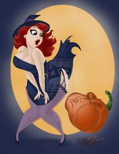 Hallie-Ween , Pin Up by ~scribblemonkey11 on deviantART