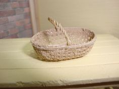 Dollhouse Miniature 1:12 Home Decor Fruit Flower Oval Basket by Falcon #H1-7  #FalconMiniatures