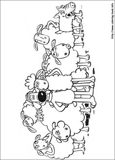 Shaun the Sheep coloring picture