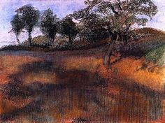 Plowed Field / Edgar Degas - circa 1880-1890
