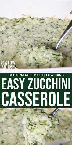 Creamy Shredded Zucchini Casserole - Creamy Shredded Zucchini Casserole What to do when you've got loads of freshly picked zucchini from your summer garden? You've got to make this low carb and gluten-free Creamy Shredded Zucchini Casserole. Shredded Zucchini Recipes, Low Carb Zucchini Recipes, Healthy Zucchini, Comida Keto, Diet Recipes, Healthy Recipes, Crab Recipes, Healthy Foods, Keto Veggie Recipes