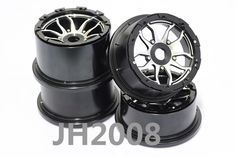 214.64$  Watch here - http://alib7v.worldwells.pw/go.php?t=32654032040 - Dark Knight (Wildflower) Aluminum Alloy Rims Fits King Motor Buggies HPI 5B, SS, 2.0, Rovan Buggy and other Bajas with 24mm hex 214.64$