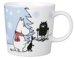 Moomin Skiing Competition - Muumi hiihtokilpailu (seasonal product - the other side Moomin Mugs, Tove Jansson, Cosy Apartment, My First Christmas, Marimekko, Ceramic Cups, Family Traditions, Chipmunks, A Comics