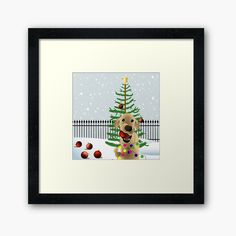 Framed prints made for you out of the finest materials and archival quality papers. Dog Frames, Boys Room Decor, Christmas Decorations, Christmas Ornaments, Wall Decor, Wall Art, Free Stickers, Off Colour, Christmas Dog