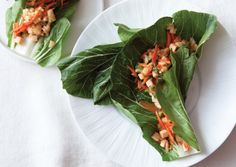 "If you can't find large, firm bok choy leaves to use as wrappers for this recipe, use smaller ones as ""cups,"" and serve the filling alongside. Choose a bold-flavored prepared teriyaki sauce or add sriracha or chile-garlic sauce for extra kick."