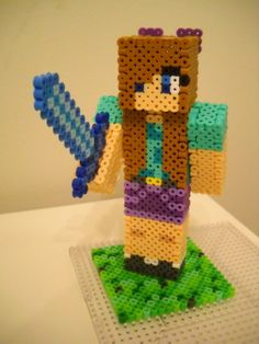 Gender Swap Steve Minecraft perler beads by RetroNinNin on deviantART This is soo cool but it would require some effort! Good outcome tho!