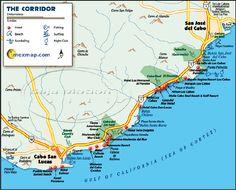 san jose del cabo mexico los cabos corridor mexico map between cabo san lucas san jose del cabo