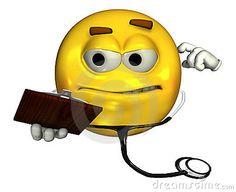 El doctor Emoticon - con el camino de recortes