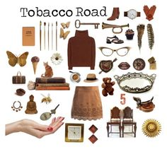 """Tobacco Road"" by seasidecollectibles ❤ liked on Polyvore featuring Eureka, Sans Souci, Loro Piana, Nook, Sensi Studio, WALL, Kelsi Dagger Brooklyn, In God We Trust, Lime Crime and Jayson Home"