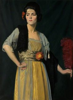 William Strang The feather fan
