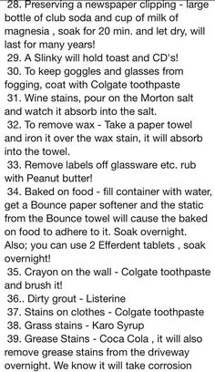 Good to know House Cleaning Tips, Diy Cleaning Products, Cleaning Solutions, Cleaning Hacks, The More You Know, Good To Know, Just For You, Simple Life Hacks, Useful Life Hacks