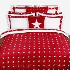 Discover the Gant Star Border Duvet Cover - Red - Double at Amara
