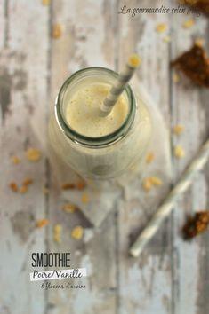 smoothie végétal poire vanille flocons d'avoine