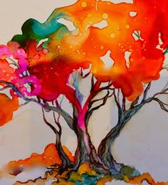 Alcohol Inks on Yupo by Wendy Videlock