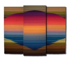 Handwoven Large three paneled tapestry by LauriedillKocher on Etsy, $1080.00