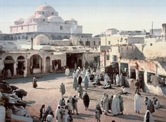 Gorgeous color postcards capture life in 1899 Tunisia