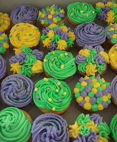 mardi gras cupcakes by paulahennig, via Flickr