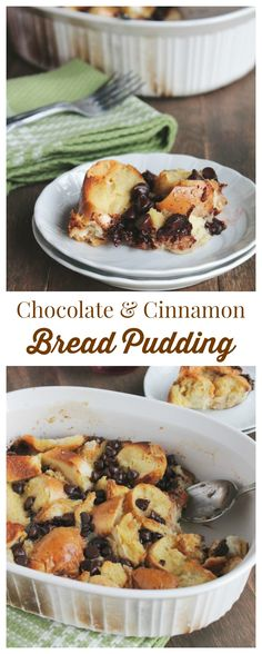 Chocolate Cinnamon Bread Pudding | My family loves this decadent bread pudding, especially on a weekend-morning! | www.diethood.com