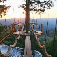 How To Build A Treehouse ? This Tree House Design Ideas For Adult and Kids, Simple and easy. can also be used as a place (to live in), Amazing Tiny treehouse kids, Architecture Modern Luxury treehouse interior cozy Backyard Small treehouse masters Adventure Awaits, Adventure Travel, Places To Travel, Places To See, Travel Destinations, Foster Huntington, Crow's Nest, In The Tree, The Great Outdoors