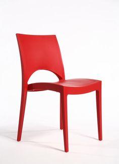 SEDIA PARIS ROSSA GRAND SOLEIL IN POLIPROPILENE INPILABILE Bar  in Home, Furniture & DIY, Furniture, Chairs | eBay!
