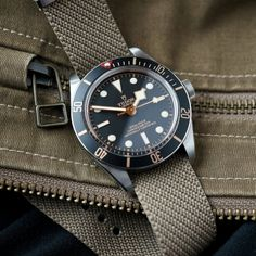 Tudor Black Bay 58 on an adjustable chevron strap from Crown and Buckle : Watchbands