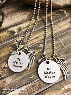 No matter where... Jewelry Set, Long Distance Jewelry, Mother Daughter Jewelry, Mother Daughter Necklace, Relationship Necklace, Relationship Jewelry ...by simply topaz | https://www.etsy.com/listing/254834790/jewelry-set-long-distance-jewelry-mother