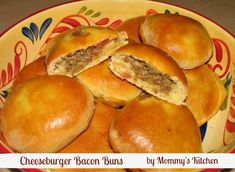 Stuffed Cheeseburger Bacon Buns! This my all time favorite dough to use for sandwich rolls. These Bacon burger buns turned out perfect. You have to try these! (You can, and should, add more Bacon!)