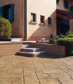 Pavimento impreso hecho en valencia, textura piedra de sileria