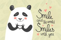 Cute panda on seamless background by whynot on @creativemarket