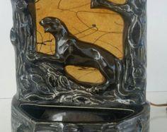 Ceramic Panther T.V. Lamp